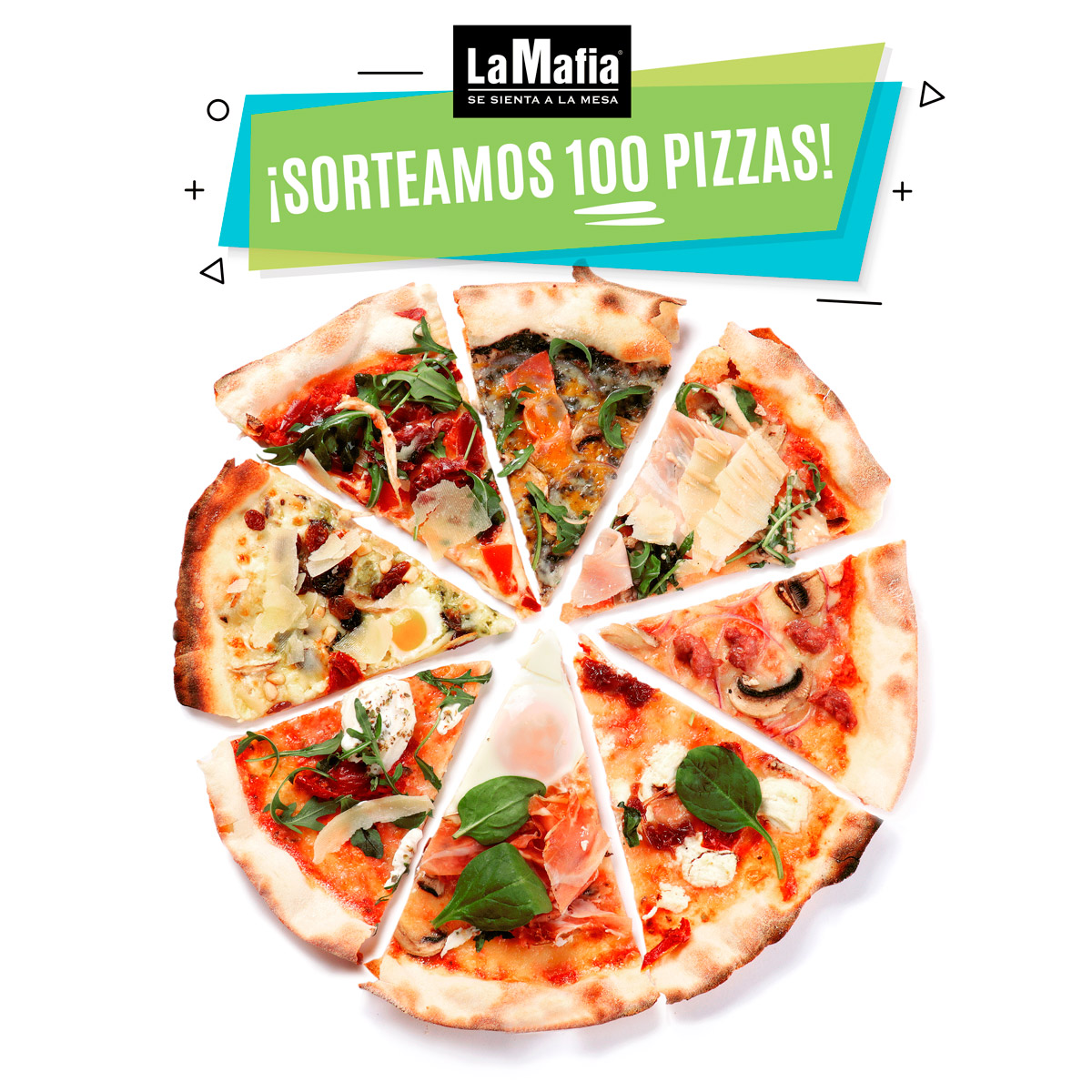 Gif Pizzas trozos Sorteo 100 Pizzas - Sorteo del verano: 100 pizzas de 'La Mafia se sienta a la mesa'