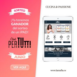 Ganador de un iPad en el sorteo entre los clientes PerTUtti Oro