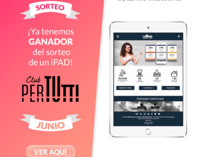 Sorteo PerTutti iPad Junio 400x320 - Ganador de un iPad en el sorteo entre los clientes PerTUtti Oro