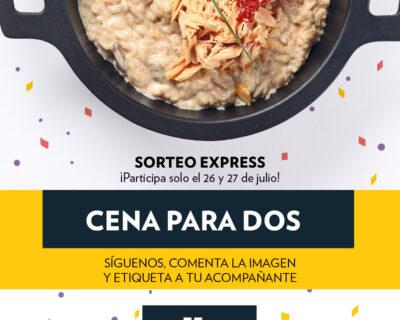 SorteoJulio FB 400x320 - Ganadores sorteo julio: ¡una comida o cena por la cara!