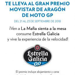 Participa en la experiencia de Moto GP con 'La Mafia se sienta a la mesa' y Estrella Galicia 0,0