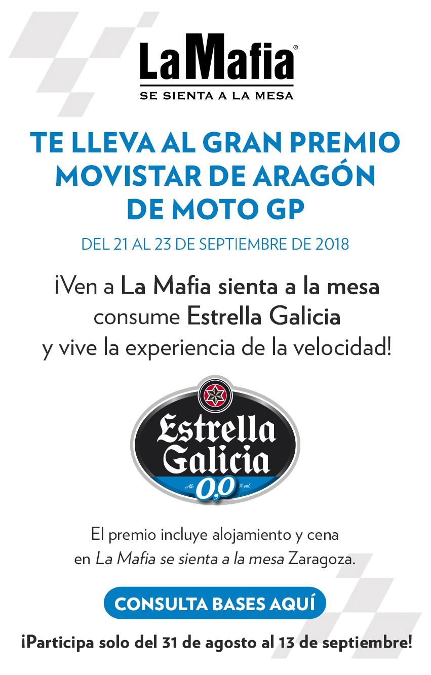 Emailing concurso Motorland 2018 2 - Participa en la experiencia de Moto GP con 'La Mafia se sienta a la mesa' y Estrella Galicia 0,0
