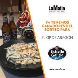 Ganadores de la experiencia con Moto GP y Estrella Galicia 0,0
