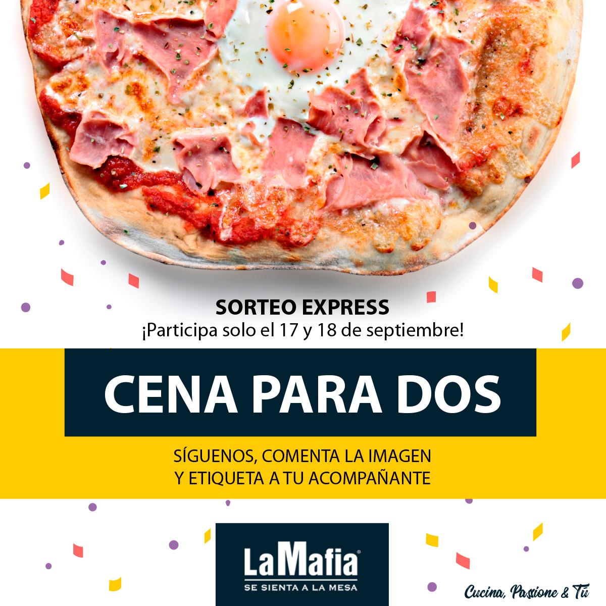 La Mafia se sienta a la mesa - Cena para dos - Septiembre 2018