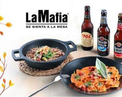 """LaMafia EstrellaGalicia 750x350 400x320 - 'La Mafia se sienta a la mesa' y Estrella Galicia se preparan para un """"Otoño di passione"""""""