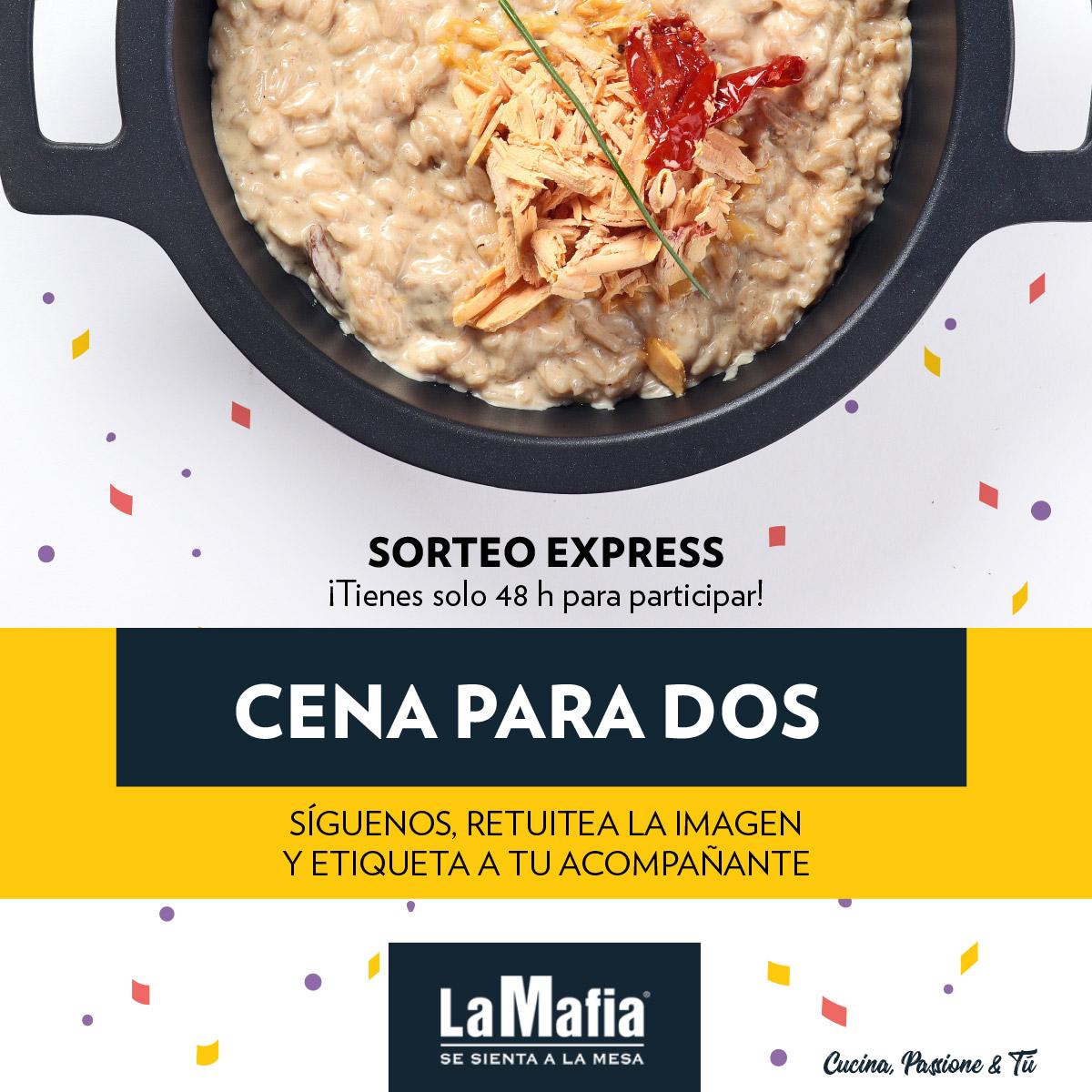 SorteoOctubre TW - Ganadores octubre: comida o cena por la cara en 'La Mafia se sienta a la mesa'