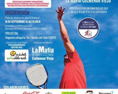 torneo de padel solidario 1 400x320 - 'La Mafia se sienta la mesa' de Colmenar Viejo, fiel a su Torneo Solidario de Pádel