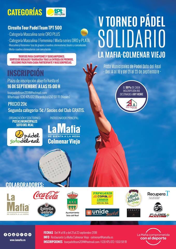 torneo de padel solidario 1 - 'La Mafia se sienta la mesa' de Colmenar Viejo, fiel a su Torneo Solidario de Pádel
