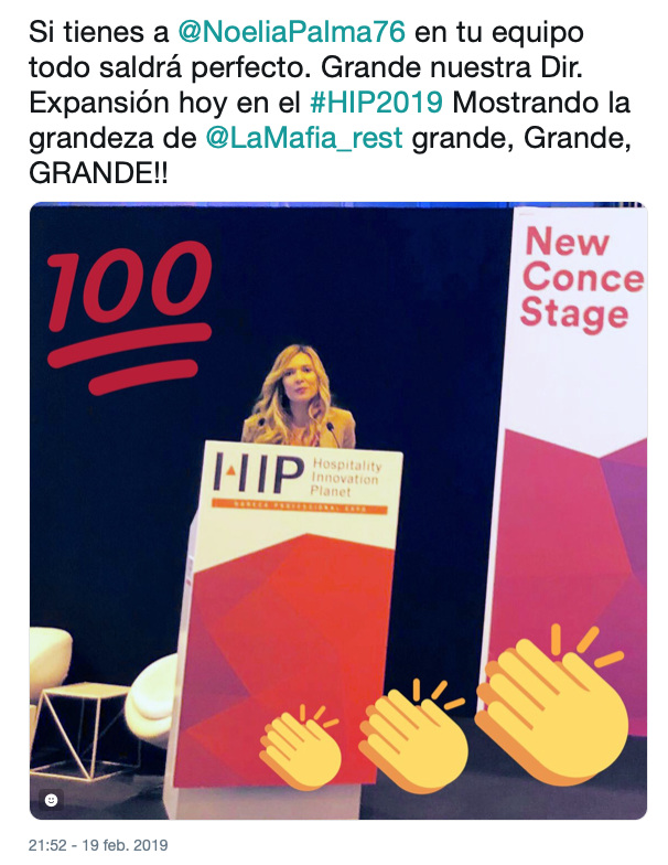 Captura de pantalla 2019 02 28 a las 18.01.47 - Gran trabajo realizado durante el HIP 2019 por el equipo de la Mafia se sienta a la mesa