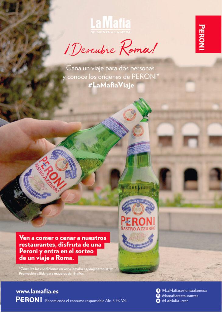 peronilow 1 729x1024 - 'La Mafia se sienta a la mesa' y Peroni te llevan a Roma