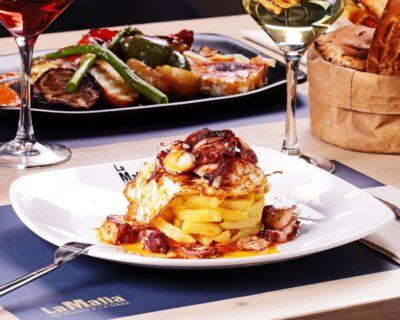 huevos rotos con pulpo 400x320 - La franquicia 'La Mafia se sienta a la mesa' presenta nueva carta con sabores muy mediterráneos
