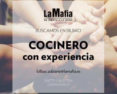 """BUSCAMOS Equipo Bilbao Cocinero 400x320 - BILBAO - Cocinero en """"La Mafia se sienta a la mesa"""""""
