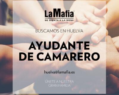 """BUSCAMOS Equipo Huelva Ayudante camarero 400x320 - HUELVA - Ayudante de camarero en """"La mafia se sienta a la mesa"""""""