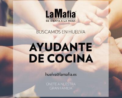 """BUSCAMOS Equipo Huelva Ayudante cocina 400x320 - HUELVA - Ayudante de cocina en """"La mafia se sienta a la mesa"""""""