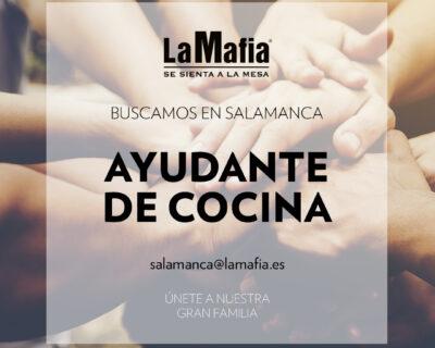 """BUSCAMOS Equipo Salamanca Ayudante cocina 400x320 - SALAMANCA - Ayudante de cocina en """"La mafia se sienta a la mesa"""""""
