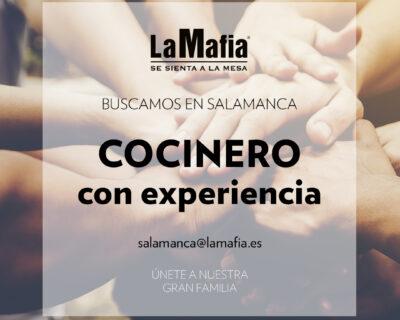 """BUSCAMOS Equipo Salamanca Cocinero 400x320 - SALAMANCA - Pizzero en """"La mafia se sienta a la mesa"""""""