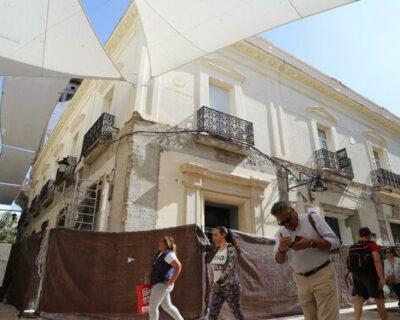 edificio sometiendo obras reforma 1394271270 108961369 667x375 400x320 - El Palacio de los Medina Sidonia en Huelva recuperará la imagen de final del XIX
