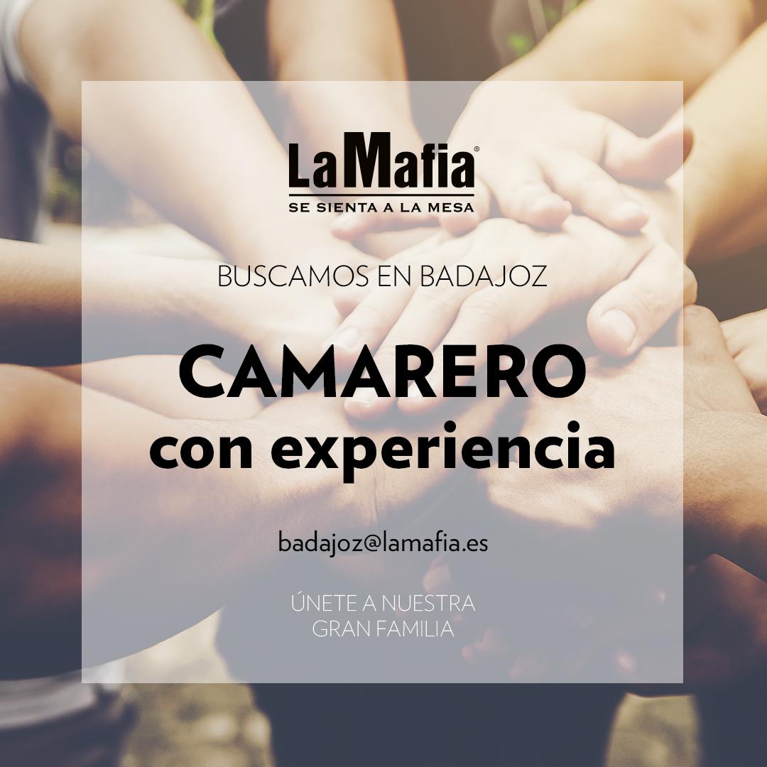 BUSCAMOS Equipo Badajoz Camarero - BADAJOZ — Buscamos camarero en 'La Mafia se sienta a la mesa'