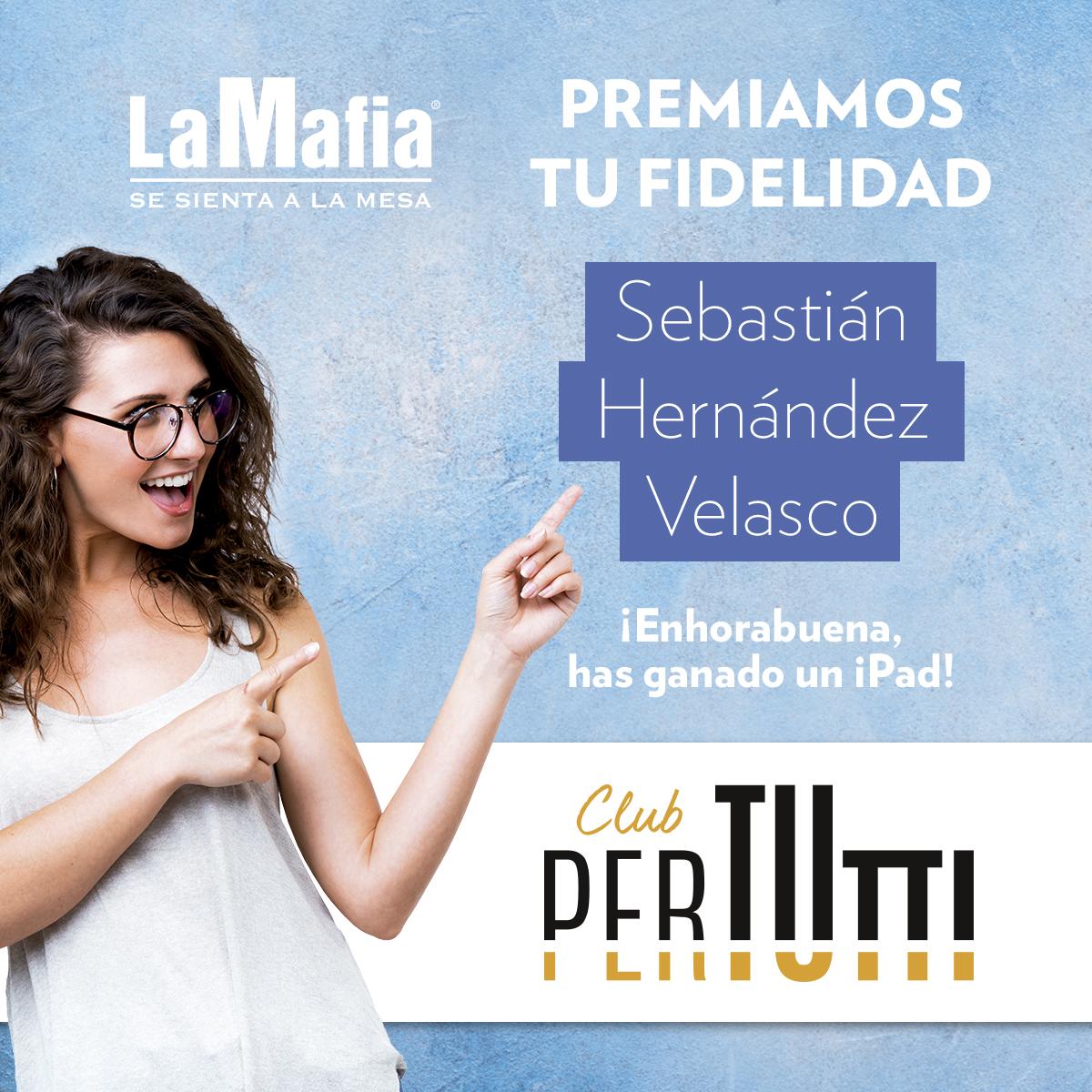 Sorteo PerTUtti Ganador noviembre - Ganador del premio especial entre 'la famiglia' PerTUtti Oro