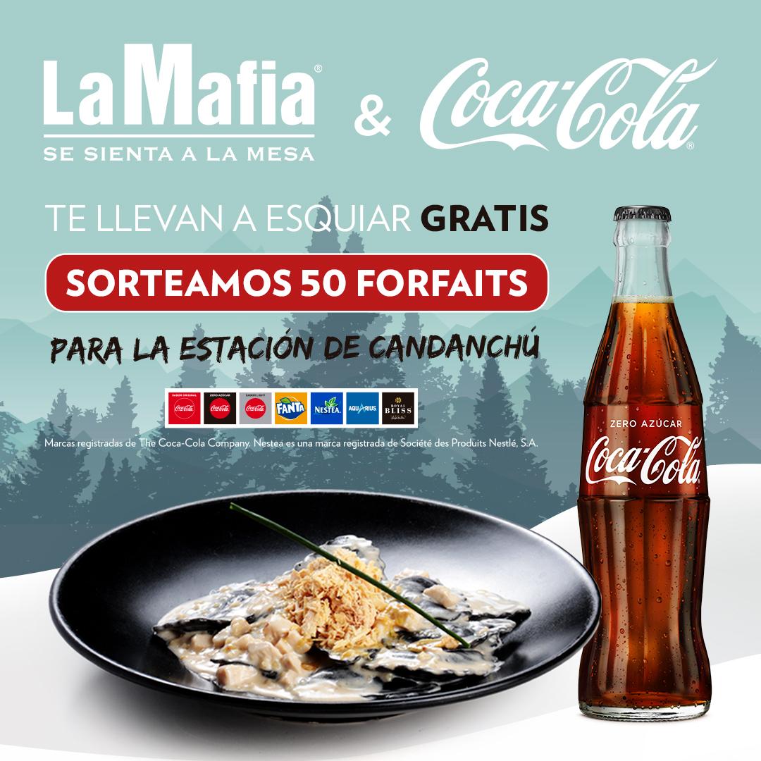 RRSS Post 50 Forfaits gratis - ¡La Mafia y Coca-Cola te llevan a esquiar gratis!