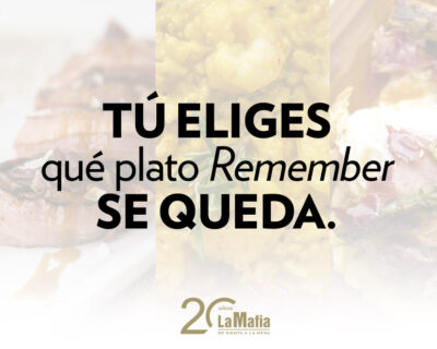 destacada sorteo remember 400x320 - GANADORES — Sorteo para Mafia Lovers: ¡elige el plato que ha vuelto para quedarse!