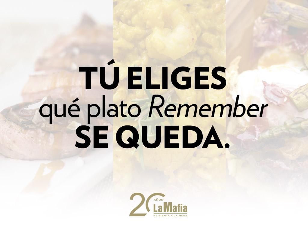 destacada sorteo remember - GANADORES — Sorteo para Mafia Lovers: ¡elige el plato que ha vuelto para quedarse!