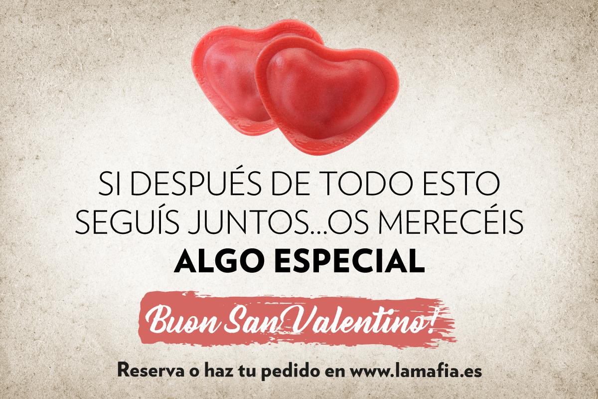 RRSS San Valentin NEWSLETTER - Enamorad@ ➡ Sorteamos 10 cenas para que te lo montes donde quieras