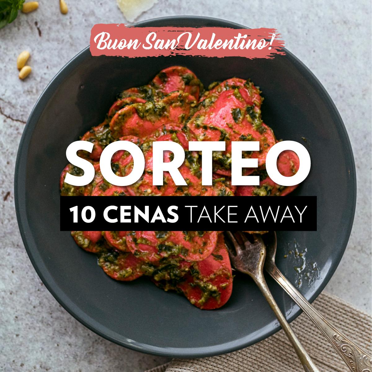 RRSS Sorteo San Valentin FEED - Enamorad@ ➡ Sorteamos 10 cenas para que te lo montes donde quieras