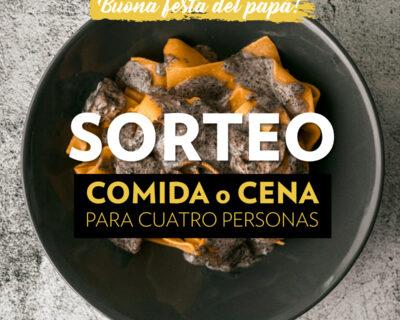 RRSS Sorteo San Día del Padre FEED 400x320 - SORTEO –Celebra el Día del Padre en 'La Mafia se sienta a la mesa'