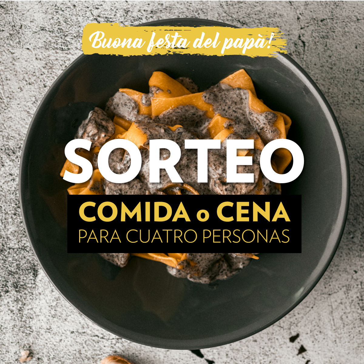 RRSS Sorteo San Día del Padre FEED - SORTEO –Celebra el Día del Padre en 'La Mafia se sienta a la mesa'